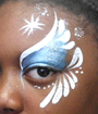 Blue Princess Eye Face Painting