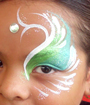 Lime Eye Face Painting