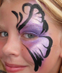 Purple Eye Face Painting