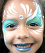 Blue Dutchess Face Painting