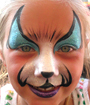 Blue Kitty Face Painting