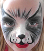 Husky Face Painting