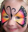 Tropical Butterfly Face Painting