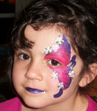 Flowery Butterfly Face Painting