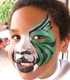 Half Tiger Face Painting