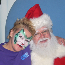 Curlie With Santa