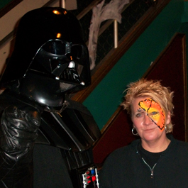 Curlie With Darth Vader